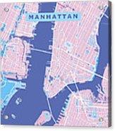 Manhattan Map Graphic Acrylic Print