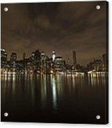 Manhattan Night View Acrylic Print