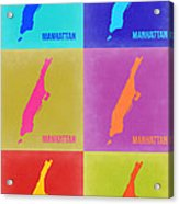 Manhattan Pop Art Map 3 Acrylic Print