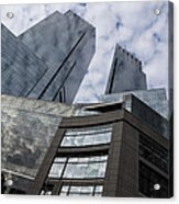 Manhattan Sky And Skyscrapers Acrylic Print