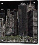 Manhattan Skyline Abstract Acrylic Print