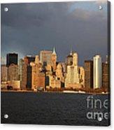 Manhattan Skyline At Sunset Acrylic Print