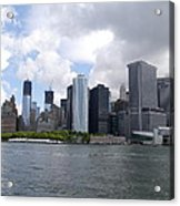 Manhattan Skyline From The Hudson River Acrylic Print