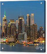 Manhattan Twilight IIi Acrylic Print by Clarence Holmes