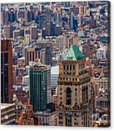 Manhattan View From The Roof Acrylic Print