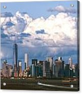 Manhattanincloudbank Acrylic Print
