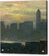 Manhattans Misty Sunset Acrylic Print
