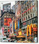 Manhattan's Theater District Acrylic Print