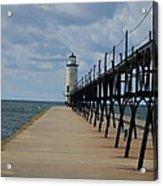 Manistee Lighthouse And Walkway Acrylic Print