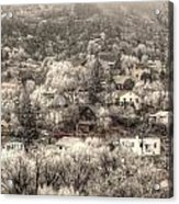 Manitou To The South In Snow Close Up Acrylic Print