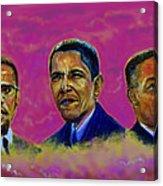 M.a.n...malcolm- Obama- Martin Acrylic Print