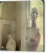 Mannequin In The Window Acrylic Print