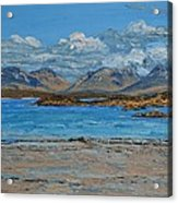 Mannin Bay And The Twelve Bens Mountains Connemara Ireland Acrylic Print