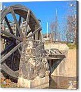 Mansfield Mill Water Wheel Acrylic Print