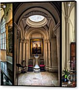 Mansion Hallway Triptych Acrylic Print by Adrian Evans