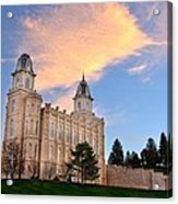 Manti Temple Morning Acrylic Print