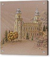Manti Utah Lds Temple Acrylic Print