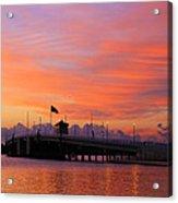 Mantoloking Bridge At Dawn Acrylic Print