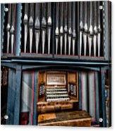 Manual Pipe Organ Acrylic Print