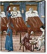Manuscript Gaddiano Circa 1542. Doctors Acrylic Print