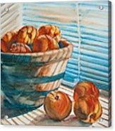 Many Blind Peaches Acrylic Print by Jani Freimann