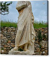 Many Sculptures Lost Their Heads In Ephesus-turkey Acrylic Print