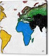 Map Digital Art World Acrylic Print