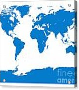 Map In Blue Acrylic Print