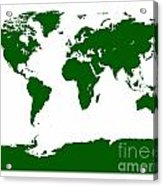 Map In Forest Green Acrylic Print