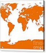 Map In Orange Acrylic Print