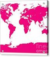 Map In Pink Acrylic Print