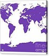 Map In Purple Acrylic Print