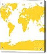 Map In Yellow Acrylic Print