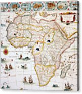 Map Of Africa, 1630 Acrylic Print