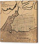 Map Of Alexandria 1798 Acrylic Print