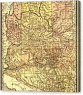 Map Of Arizona 1883 Acrylic Print