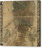 Map Of Boston 1852 Acrylic Print