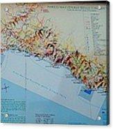Map Of Cinque Terre Acrylic Print