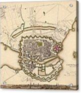 Map Of Copenhagen 1837 Acrylic Print