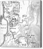 Map Of Delos Greece 1909 Acrylic Print