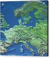 Map Of Europe Acrylic Print