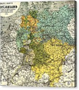 Map Of Germany 1861 Acrylic Print