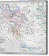 Map Of Greece Acrylic Print