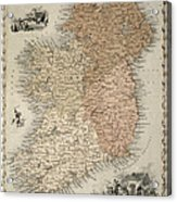 Map Of Ireland Acrylic Print by C Montague