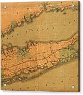 Map Of Long Island 1888 Acrylic Print