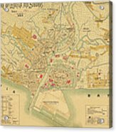 Map Of Manila 1899 Acrylic Print