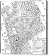 Map Of New York City, 1803 Acrylic Print
