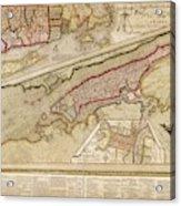 Map Of New York City Acrylic Print