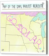 Map Of The Dapl Project Reroute Acrylic Print