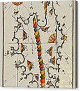 Map Of The Island Corsica Acrylic Print
